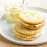 Rosemary-Scented Lemon Curd & Mascarpone Sandwich Cookies