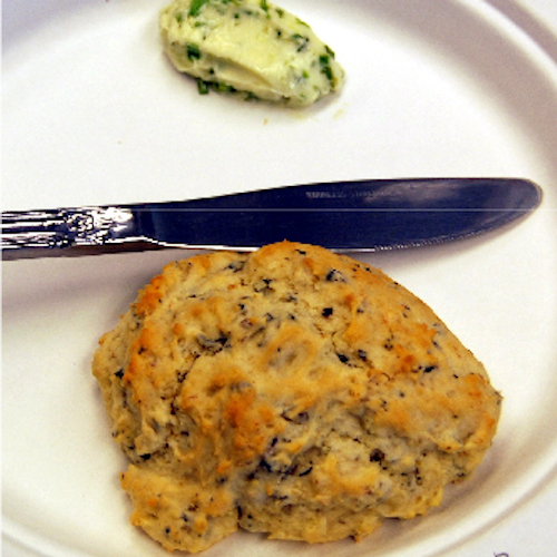Savory wild rice biscuits